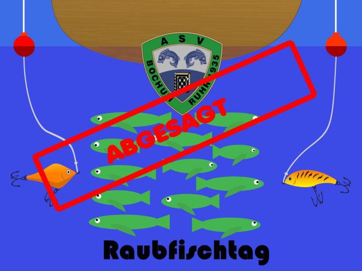 Wichtige Info zum Raubfischtag 2021